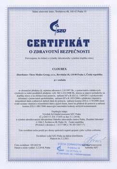 SZÚ - Certifikát o zdravotní bezpečnosti, ke stažení v PDF